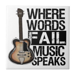 Music Speaks | Choose your background color Small Square Tile