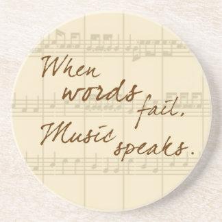 Music Speaks Coaster