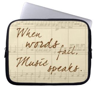 Music Speaks Computer Sleeves