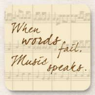 Music Speaks Drink Coaster