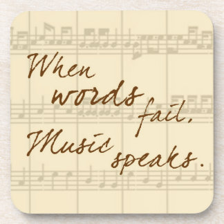 Music Speaks Drink Coaster