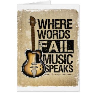 music speaks greeting card