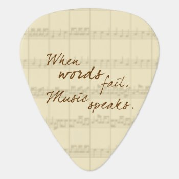Music Speaks Guitar Pick by PawsitiveDesigns at Zazzle