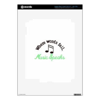 Music Speaks iPad 3 Decal