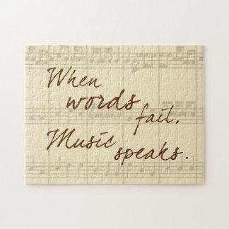 Music Speaks Jigsaw Puzzle