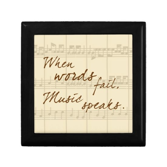 Music Speaks Keepsake Box