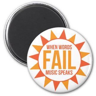 Music Speaks Magnet