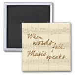 Music Speaks Magnet at Zazzle