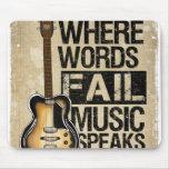 music speaks mouse pad
