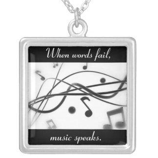 Music Speaks Necklace