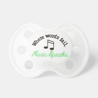 Music Speaks Pacifier