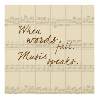 Music Speaks Panel Wall Art