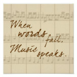 Music Speaks Poster at Zazzle
