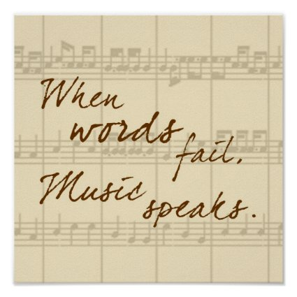 Music Speaks Print