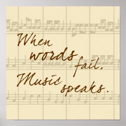 Music Speaks Print
