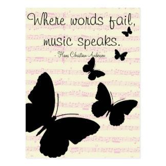 Music Speaks Quote Postcard
