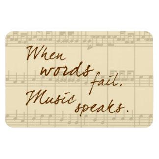 Music Speaks Rectangular Photo Magnet