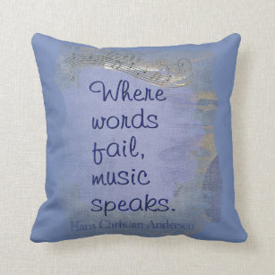 Music Speaks Say It With Pillows