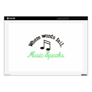 Music Speaks Decal For Laptop