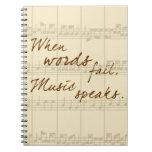 Music Speaks Spiral Notebook