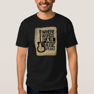 music speaks t shirts