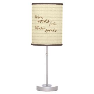 Music Speaks Table Lamp