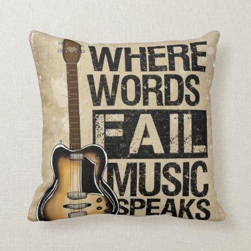 Music Speaks Throw Pillow Zazzle