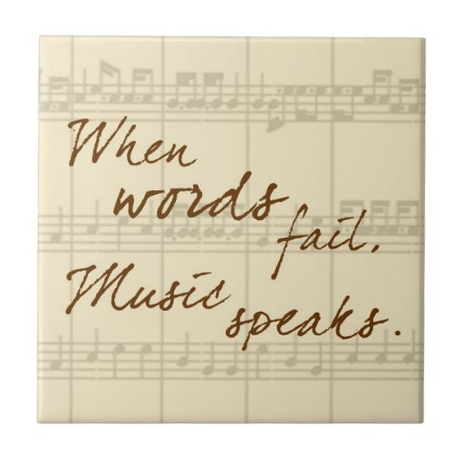 Music Speaks Tile
