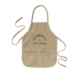 Music Speaks Treble Clef Plate and Dining Kids' Apron