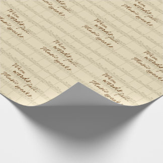 Music Speaks Wrapping Paper