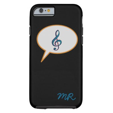 music speech balloon personalized tough iPhone 6 case