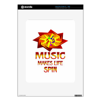 Music Spins Decal For iPad