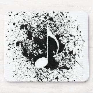 Music Splatter Mouse Pad