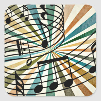 Music Square Sticker