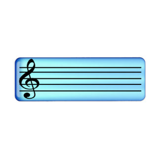 music staff 3 custom return address label