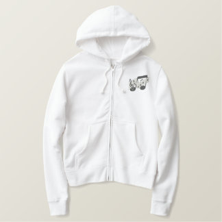 Music Staff Embroidered Hoodie