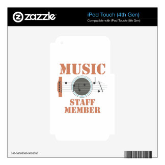 Music Staff Member iPod Touch 4G Skins