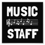 Music Staff Photo Print