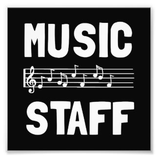 Music Staff Photo Print