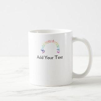 Music Staff Semi-Circle Rainbow on White Classic White Coffee Mug