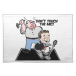 Music Stand Cover: Don't Touch the Mic Cloth Placemat
