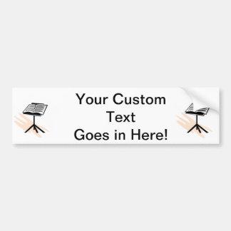 Music stand graphic design image car bumper sticker