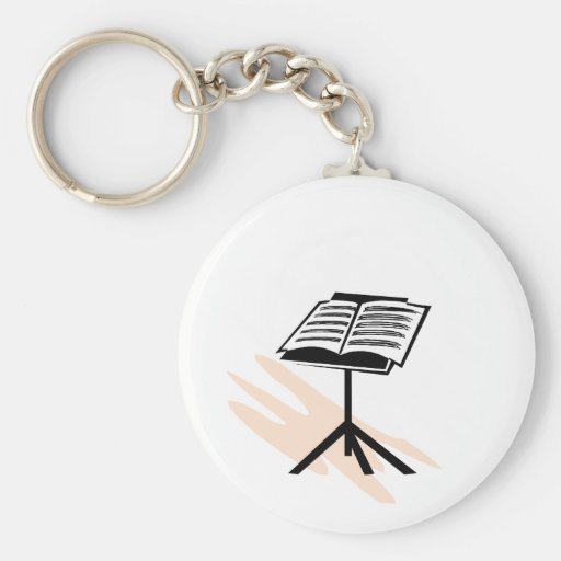 Music stand graphic design image keychains