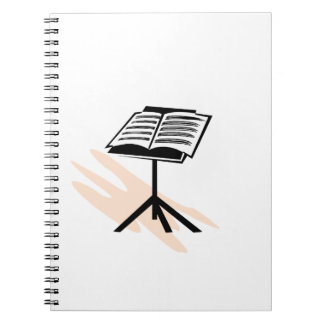 Music stand graphic design image note book