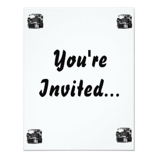 Music Stand in Chairs spin zoom musical design 4.25x5.5 Paper Invitation Card