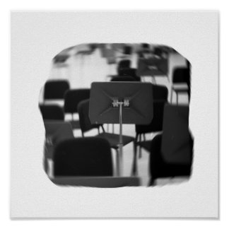 Music Stand in Chairs spin zoom musical design Posters