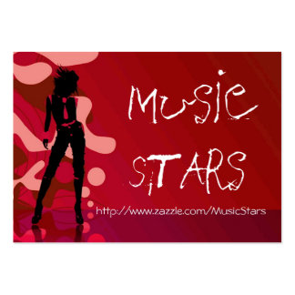 Music Stars Business Cards