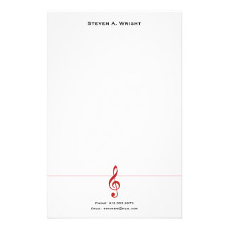 Music Stationery Paper