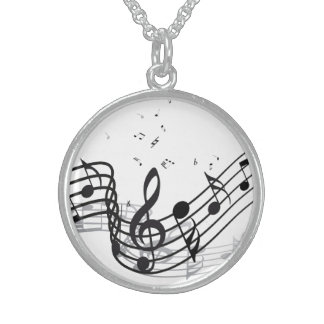 Music Sterling Silver Necklace