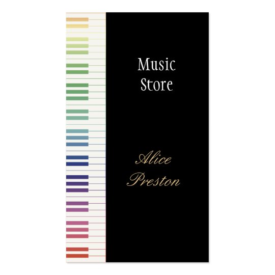 Music Store  - Business Card